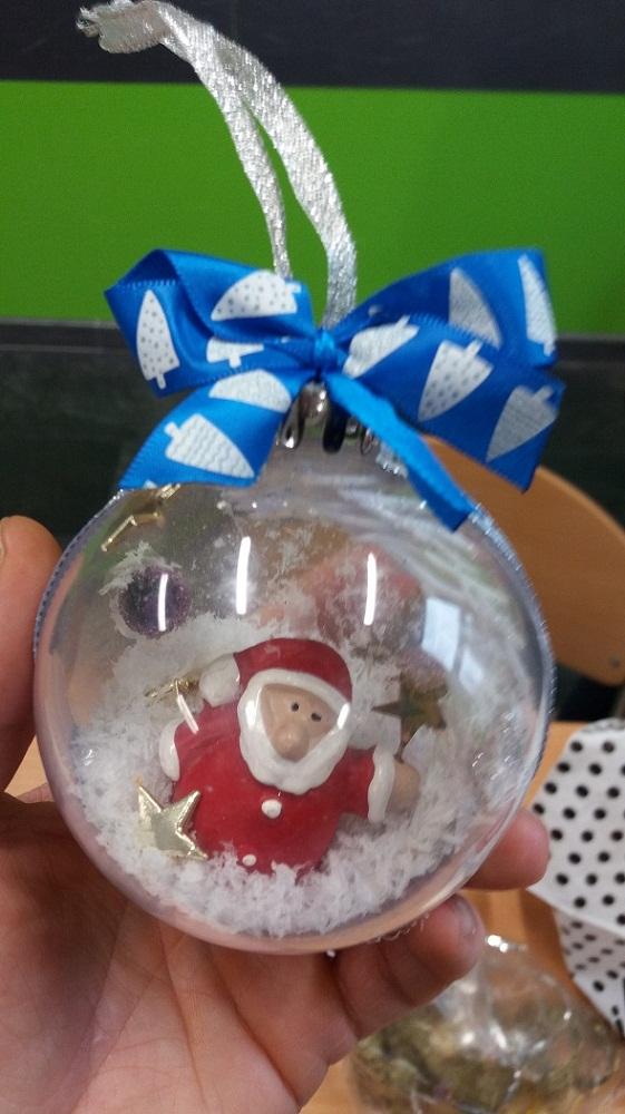 Ozdoby świąteczne wykonane przez klasę VI A