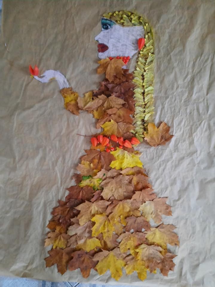 """Praca plastyczna """"Pani Jesień"""""""