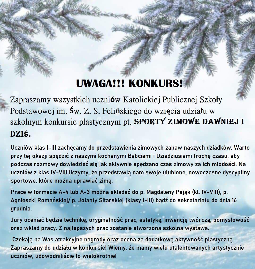 Sporty zimowe dawniej i dziś